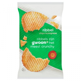 Gwoon Ribbel Chips Bolognese 215g