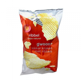 Gwoon Ribbel Naturel Chips 215g