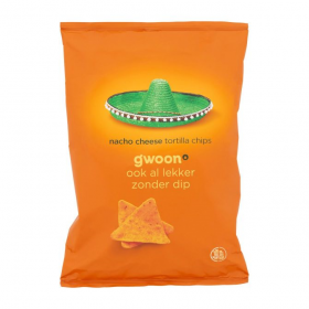 Gwoon Nacho Cheese Tortilla Chips 165g