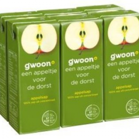 Gwoon Appelsap 6x200ml