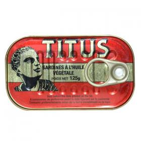 Titus Sardines In Vegetable Oil 3x125g
