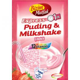 Bizim Mutfak Puding&Milkshake Cilekli 30g